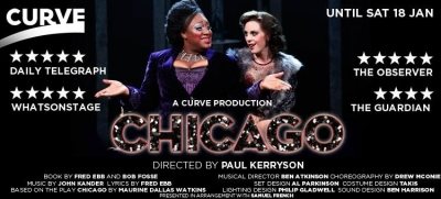 'Chicago' Matron Momma Morton and Verity Rushworth, Curve Theatre.